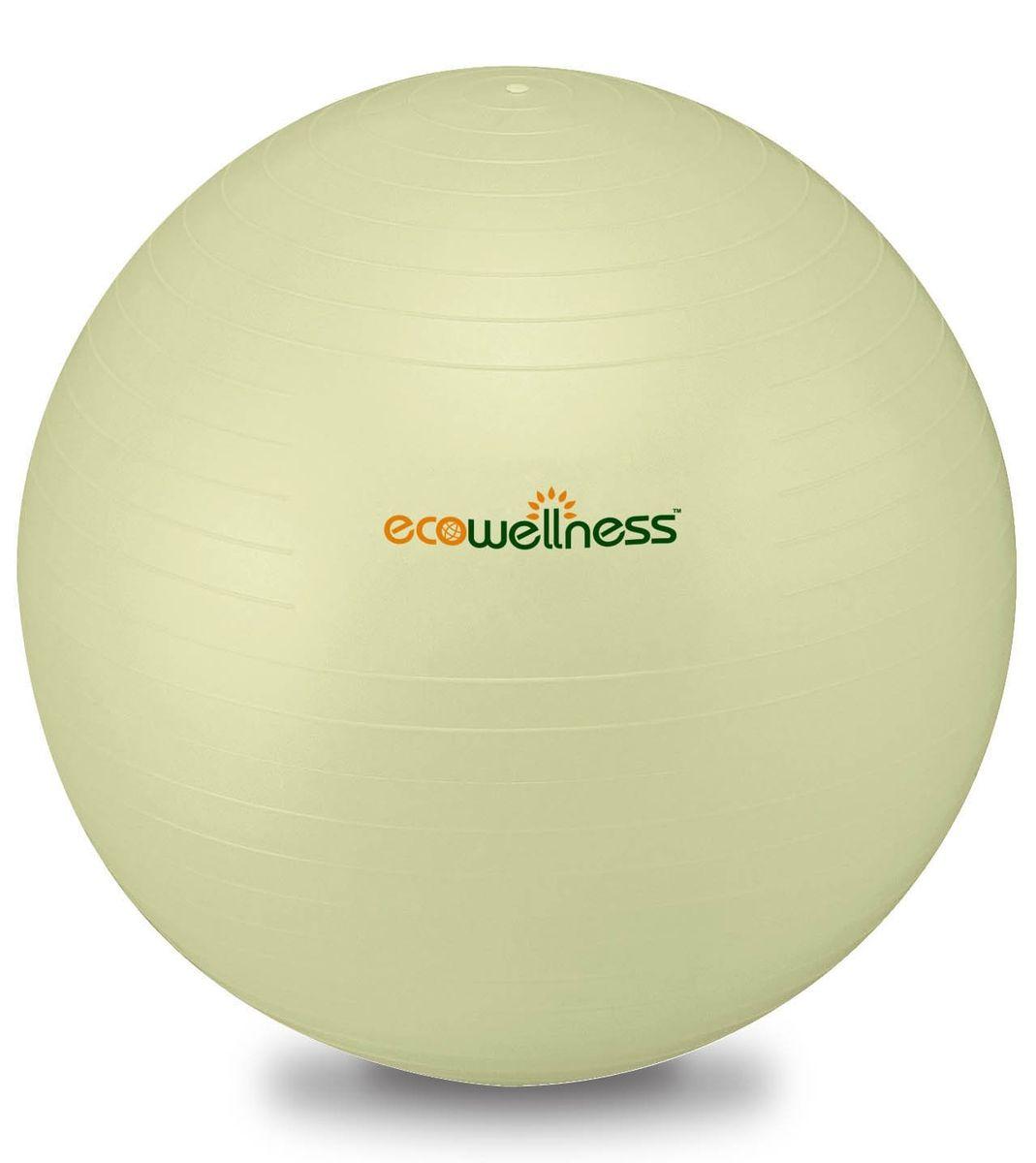 Мяч гимнастический Ecowellness 65 см, c ручным насосом, цвет: светло-зеленый. QB-001TAG3-26QB-001TAG3-26Материал: прочный экологичный ПВХ. Система Анти-Взрыв. Идеально подходит для занятий аэробикой и фитнесом, а также для укрепления мышц верхней и нижней части тела. Диаметр: 65 см. Цвет: светло-зеленый. Привлекательная индивидуальная упаковка. В комплекте идет ручной насос.Отличный подарок для любителей фитнеса.