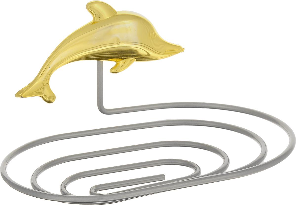 Мыльница Fresh Code Море. Дельфин, на присоске, цвет: золотистый, 14 х 9,5 х 2 см56444_ Золотистый дельфинМыльница Fresh Code Море. Дельфин выполнена из хромированной стали и украшена пластиковой фигуркой. Изделие крепится к стене при помощи присоски. Такая мыльница прекрасно подойдет для ванной комнаты или кухни.