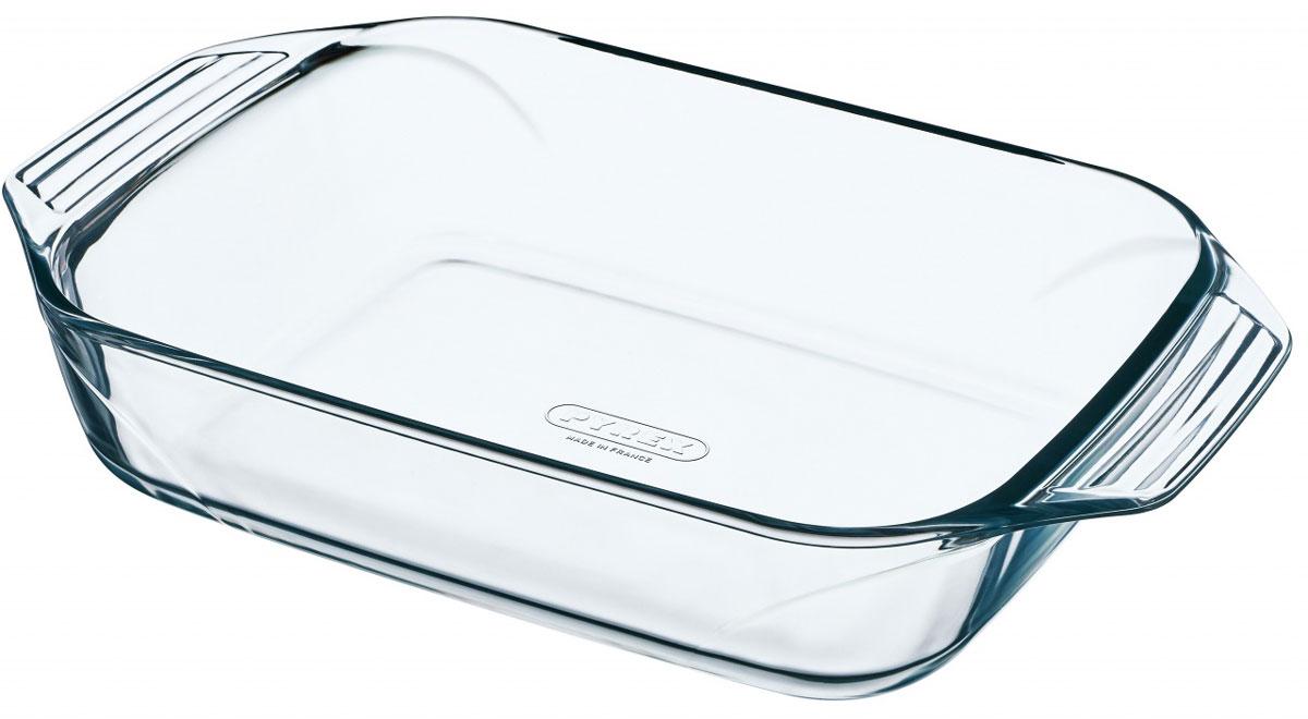 """Прямоугольная форма для запекания Pyrex """"Optimum"""" изготовлена из жаропрочного стекла, которое выдерживает температуру до +300°С. Форма предназначена для приготовления горячих блюд. Оснащена двумя ручками. Материал изделия гигиеничен, прост в уходе и обладает высокой степенью прочности.  Форма идеально подходит для использования в духовках, микроволновых печах, холодильниках и морозильных камерах.  Размер формы (с учетом ручек): 31 х 20 см. Толщина стенки: 0,5 см.  Высота стенки формы: 6 см."""
