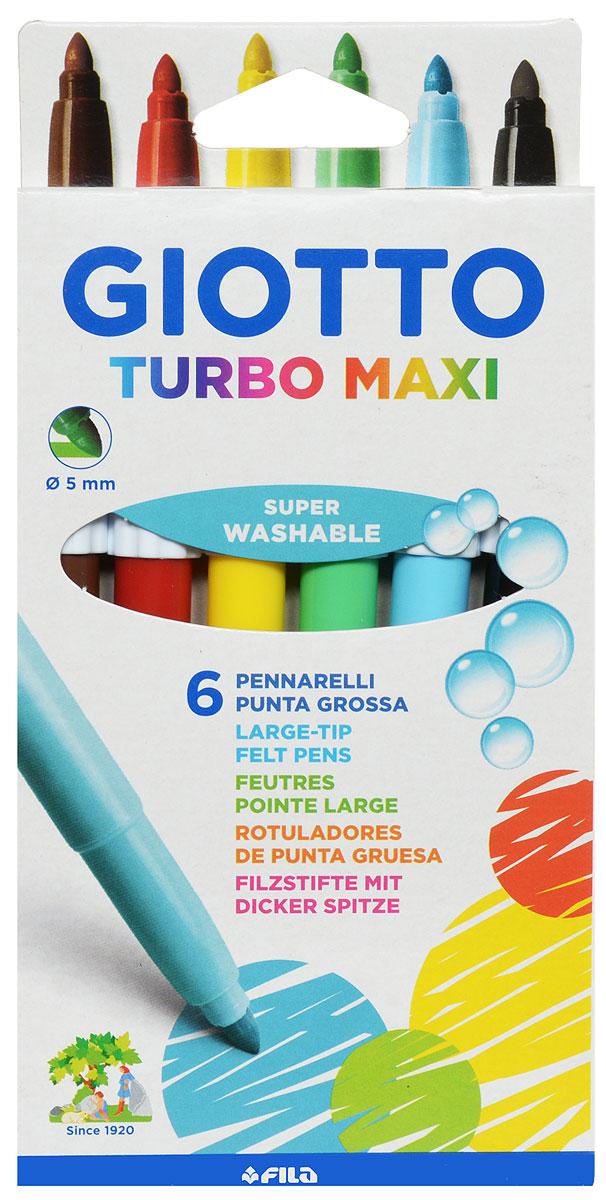 Giotto Фломастеры Turbo Maxi 6 цветов453000Фломастеры Giotto Turbo Maxi - это 6 ярких насыщенных цветов в разноцветных пластиковых корпусах (цвет корпуса соответствует цвету чернил). Наконечники фломастеров устойчивы к повышенному давлению и не разнашивается со временем. Каждый фломастер оснащен плотным вентилируемым колпачком, защищающим чернила от испарения.Фломастеры утолщенной формы, что очень удобно для детских пальчиков. Чернила изготовлены на водной основе. Легко отстирываются и смываются с рук.Фломастеры Giotto Turbo Color - идеальный инструмент для самовыражения и развития маленького художника!