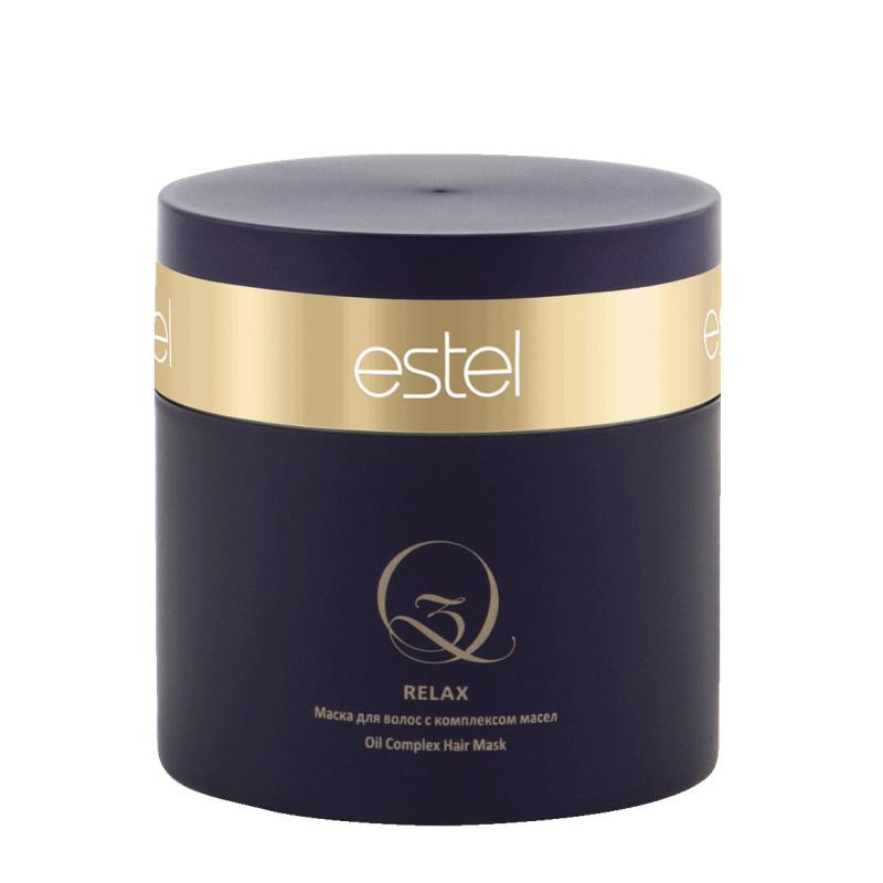Estel Q3 Relax - Маска для волос с комплексом масел Q3 300 млQ3/300/MТип волос: ВсеПроблемы волос: Ослабленные волосыУкрепляет и насыщает структуру волос ценными маслами арганы и макадамии. Результат: Без эффекта утяжеления. Обеспечивает антистатический эффект. Поддерживает яркость цвета и сохраняет защитный экран на поверхности волос