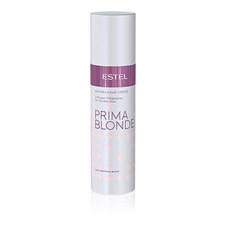 Estel Prima Blonde - Двухфазный спрей для светлых волос 200 млPB.5Тип волос: Светлые натуральные и окрашенные Проблемы волос: Сухость и ломкость Спрей активно питает и увлажняет сухие и ломкие светлые волосы. В составе продукта – комплекс Peаrl Comfort с протеинами пшеницы. Ничуть не перегружая волосы, спрей эффективно восстанавливает их структуру, наделяет природной силой, придает объем и сияние по всей длине. Дополнительно обеспечивает термозащиту при укладке.Результат: Протеины пшеницы – восстановление волос Фенил триметикон – блеск волос Поликватерниум – объем волос.