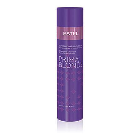 Estel Prima Blonde - Серебристый шампунь для холодных оттенков блонд 250 млPB.1Тип волос: Осветленные Проблемы волос: Желтый оттенок Серебристый шампунь создан специально для того, чтобы, мягко очищая волосы, придавать им благородный серебристый оттенок. Желтый нюанс – забыт, цвет остается холодным, ярким и пленительным! Система Nаturаl Peаrl в составе продукта содержит пантенол и кератин, которые способствуют восстановлению структуры волос, обеспечивают им мягкость и блеск.Результат: Фиолетовые пигменты – нейтрализуют желтый нюанс, Кератин – придает волосам здоровый и ухоженный вид, насыщает блеском, Пантенол – восстанавливает и увлажняет волосы.