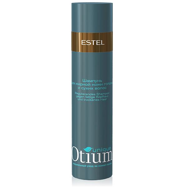 Estel Otium Unique Шампунь для жирной кожи головы и сухих волос 250 млOT.93Estel Otium Unique Шампунь для жирной кожи головы и сухих волос. Шампунь с комплексом Unique No fаt деликатно удаляет излишки жира и солей с кожи головы, стабилизирует работу сальных желёз. Увлажняет сухие волосы, кондиционирует их, придаёт здоровый вид и блеск. Идеален в сочетании с Тоник - контролем Otium Unique для жирной кожи головы.Для ежедневного применения.