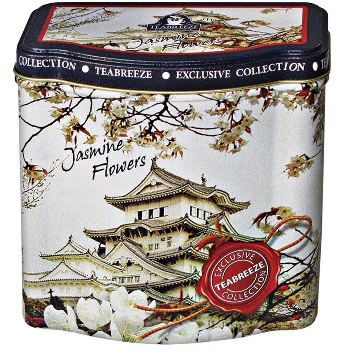 Teabreeze Jasmine Flowers чай зеленый, 100 г (ж/б)4620009890707Чай в подарочной жестяной банке Teabreeze Jasmine Flowers (Чай Жасминовый).Зеленый чай с нераспустившимися бутонами жасмина — это изысканный напиток Востока, который будет понятен даже самому неискушенному жителю Запада. Его сладковатый вкус и тонкий аромат не оставят равнодушными никого. Жасминовый чай прекрасно подойдет для первого знакомства с зеленым чаем, привнеся радость от этой встречи каждому человеку. Для Жасминового чая отбирается только лучший зеленый байховый чай весеннего сбора, к которому добавляются нераспустившиеся бутоны жасмина, собранные ранним утром. Получившуюся смесь высушивают вместе. После такой просушки получается напиток, источающий легкий цветочный аромат, создающий уникальный вкус, который запомнится надолго.Всё о чае: сорта, факты, советы по выбору и употреблению. Статья OZON Гид