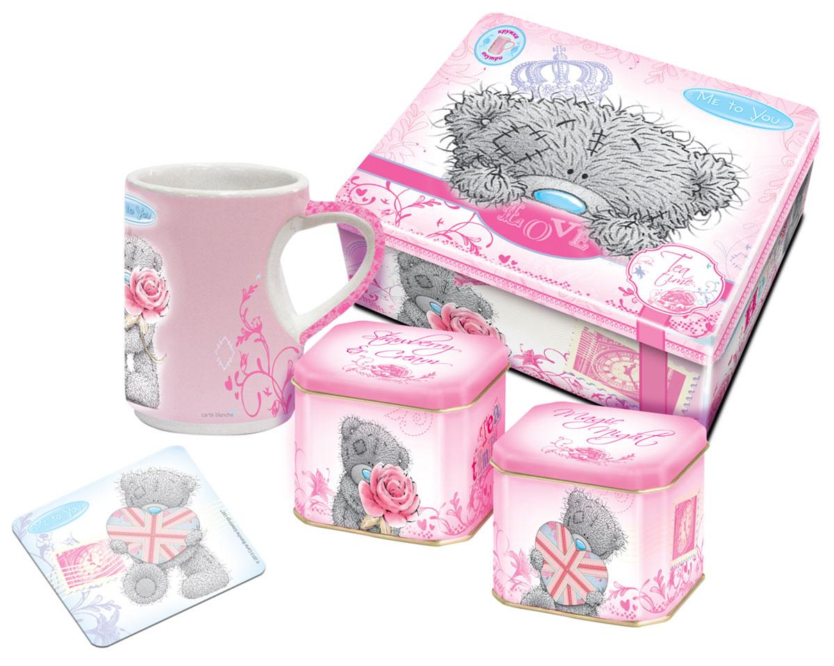 Teabreeze Me to You чайная шкатулка с чашкой и подставкой (розовая), 100 г pediasure смесь со вкусом ванили с 12 месяцев 200 мл