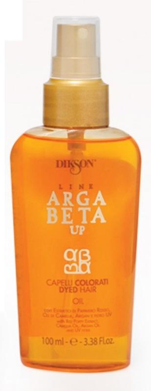 Dikson Olio Argabeta Up Capelli Colorati Масло для окрашенных волос 100 млdiks2488Насыщенное масло густой и плотной текстуры. Идеально подходит для окрашенных и поврежденных волос. Моментально впитывается в волосы, уплотняет их. Обеспечивает светоотражение на длительный период и придает волосам сверкающий блеск. Надолго сохраняет яркость и стойкость цвета окрашенных волос. Экстракт Красного мака в комплексе с маслом Камелии и Аргановым маслом создают эффект защитной оболочки, гарантируя питательное и увлажняющее действие. Обволакивает волос, обеспечивая защиту от UV лучей. Обладает антистатическим действием на волосы.Не жирное.