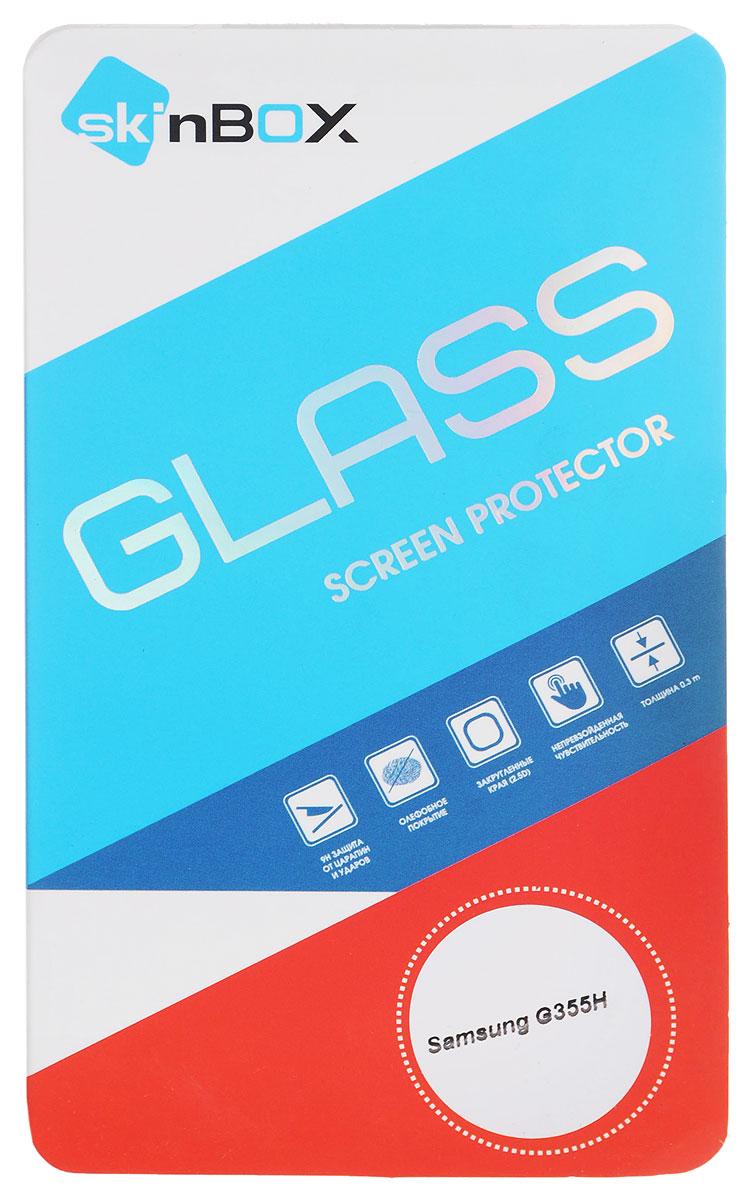 Skinbox SP-102 защитное стекло для Samsung G355H, глянцевоеSP-102Защитное стекло Skinbox SP-102 изготовлено из высококачественного японского материала Asahi Glass, с применением современных технологий закаливания и обработки стекла, что придает ему максимальную прочность 9H. Стекла от Skinbox надежно защищают экран вашего устройства от ударов и царапин.