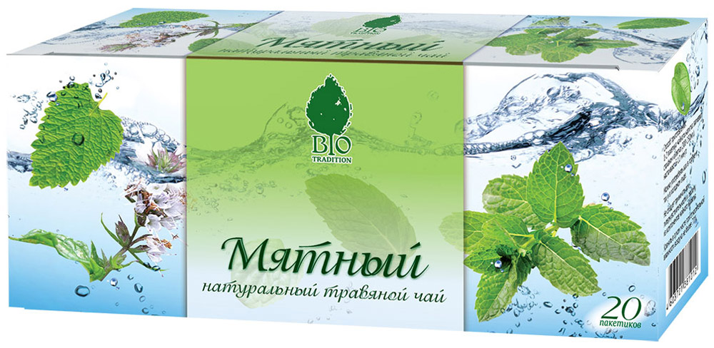 BioTradition Мятный травяной чай в пакетиках, 20 шт бабушкино лукошко мята детский травяной чай с 3 месяцев в пакетиках 20 шт