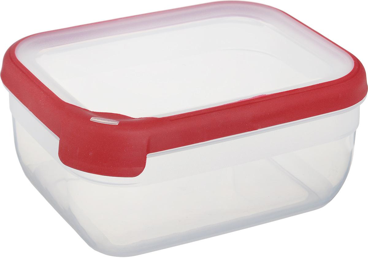 Емкость для заморозки и СВЧ Curver Grand Chef, цвет: прозрачный, бордовый, 1,8 л7389_прозрачный, бордовыйПрямоугольная емкость для заморозки и СВЧ Curver Grand Chef изготовлена из высококачественного пищевого пластика. Стенки емкости прозрачные. Крышка по краю оснащена силиконовой вставкой, благодаря которой плотно и герметично закрывается, дольше сохраняя продукты свежими и вкусными. Емкость удобно брать с собой на пикник, дачу, в поход или просто использовать для хранения пищи в холодильнике. Можно использовать в микроволновой печи и для заморозки в морозильной камере. Можно мыть в посудомоечной машине.