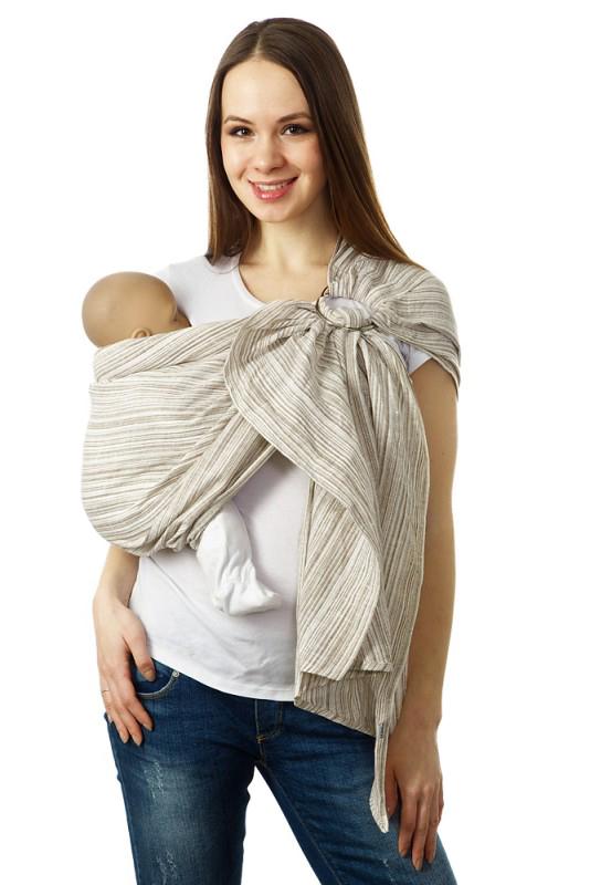 Mum's Era Слинг с кольцами Лайн цвет карамель слинг шарфы mum s era слинг шарф мимоза