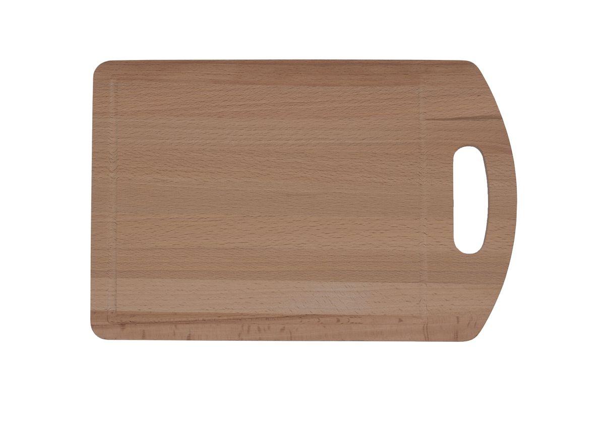 Доска разделочная Proffi, бук, 30 x 20 смPH6556Разделочная доска может использоваться как для нарезки продуктов, так и для сервировки стола. Так же можно использовать в качестве подставки под горячее.