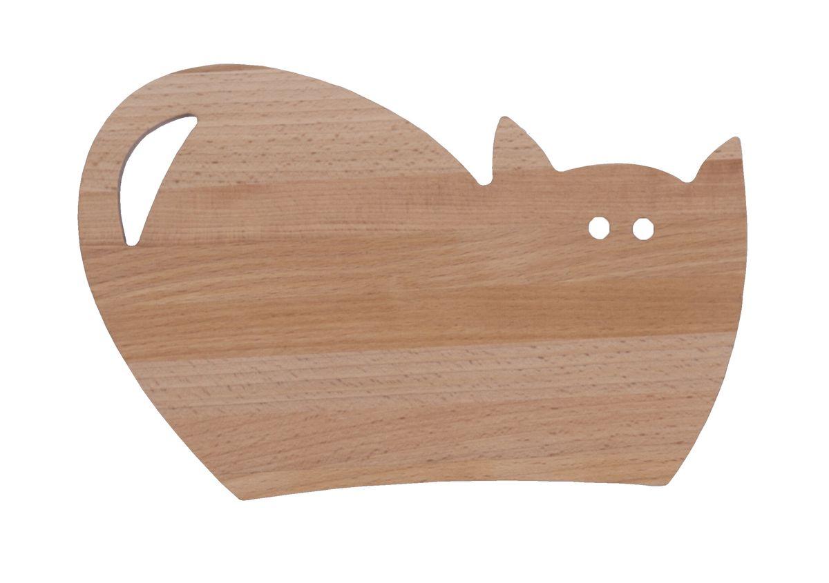 Доска разделочная Proffi, бук, 24 x 17 смPH6561Разделочная доска в виде кошки украсит внутренний антураж кухни и добавит тепло и уют в ваш дом! Изделия из бука отличаются высокой износостойкостью, красивой фактурой дерева, влагоустойчивостью.