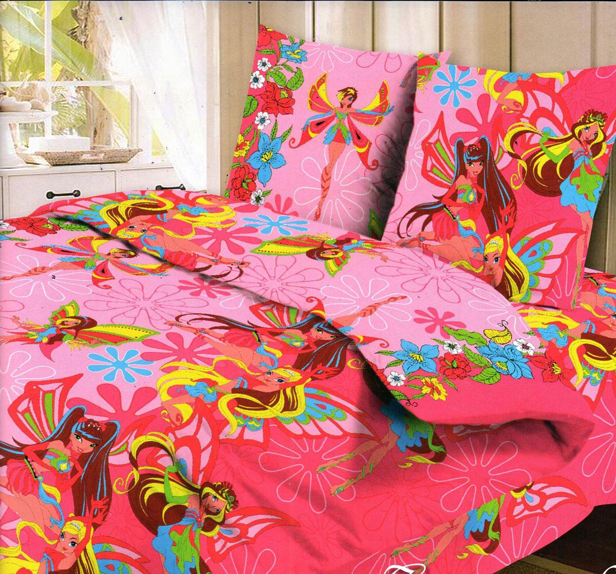 Letto Комплект детского постельного белья Фея цвет розовый