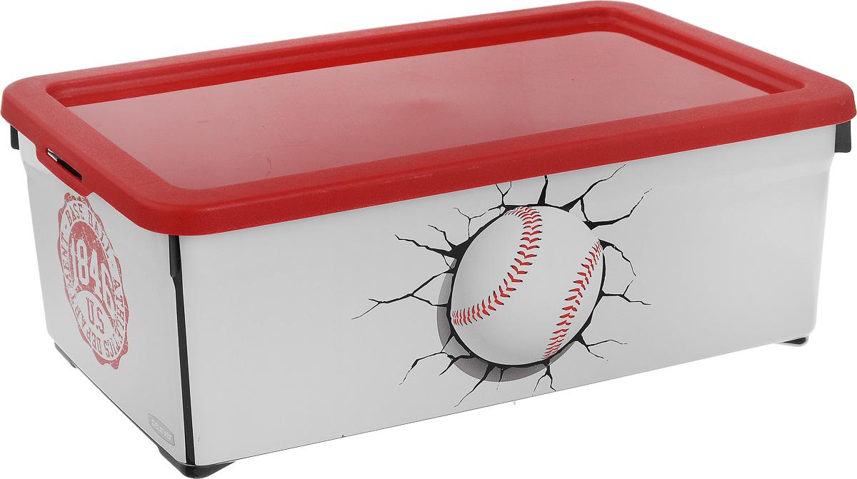 Контейнер для хранения Curver Baseball, 5,7 л03012 IMLКонтейнер для хранения Curver Baseball изготовлен из пластика. Он предназначен для хранения канцелярии, медикаментов, различных мелких предметов, в него также поместится пара кроссовок. Изделие снабжено плотно закрывающейся крышкой. Такой контейнер поможет хранить все в одном месте, а также защитить вещи от пыли, грязи и влаги.