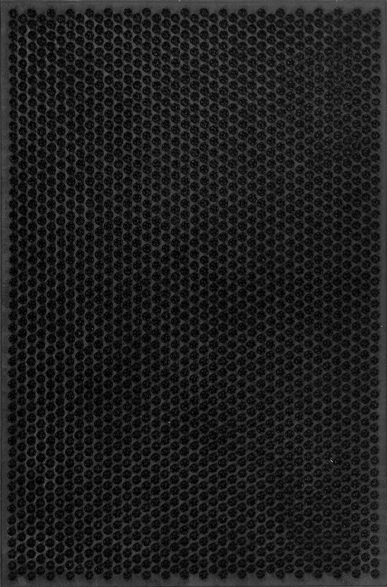 Коврик придверный SunStep Травка, цвет: черный, 60 х 40 см коврик придверный sunstep грязесборный цвет черный 120 х 80 х 2 2 см