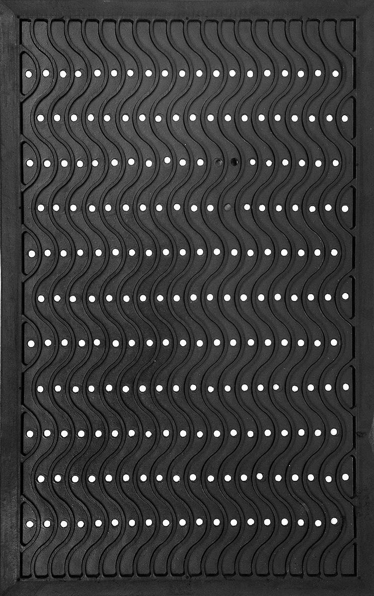 Коврик придверный SunStep Волна, резиновый, 80 х 50 см коврик домашний sunstep цвет бежевый 80 х 150 х 4 см