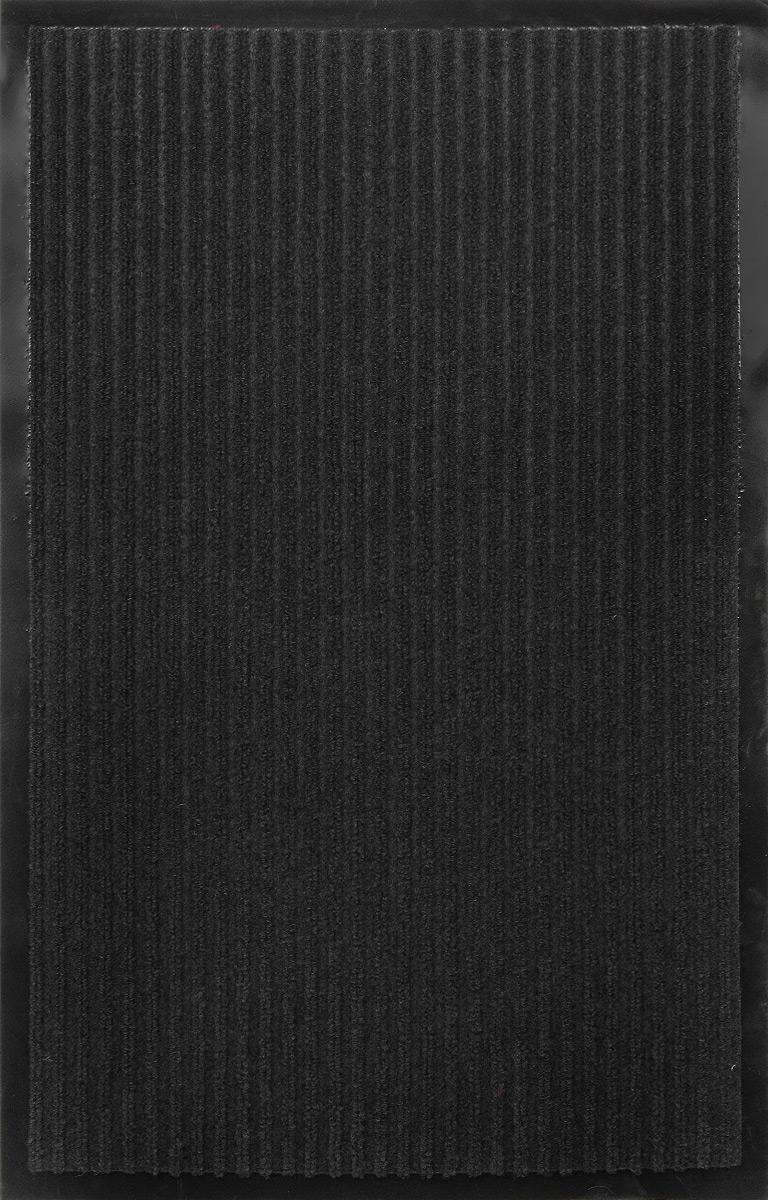 Коврик придверный SunStep Ребристый, влаговпитывающий, цвет: черный, 80 х 50 см коврик домашний sunstep цвет бежевый 80 х 150 х 4 см