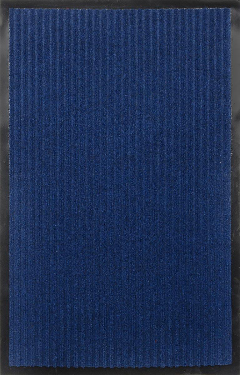 Коврик придверный SunStep Ребристый, влаговпитывающий, цвет: синий, 80 х 50 см35-045Влаговпитывающий придверный коврик SunStep Ребристый выполнен из высококачественных полимерных материалов. Он прост в обслуживании, прочный и устойчивый к различным погодным условиям. Лицевая сторона коврика мягкая. Прорезиненная основа предотвращает его скольжение по гладкой поверхности и обеспечивает надежную фиксацию. Такой коврик надежно защитит помещение от уличной пыли и грязи.