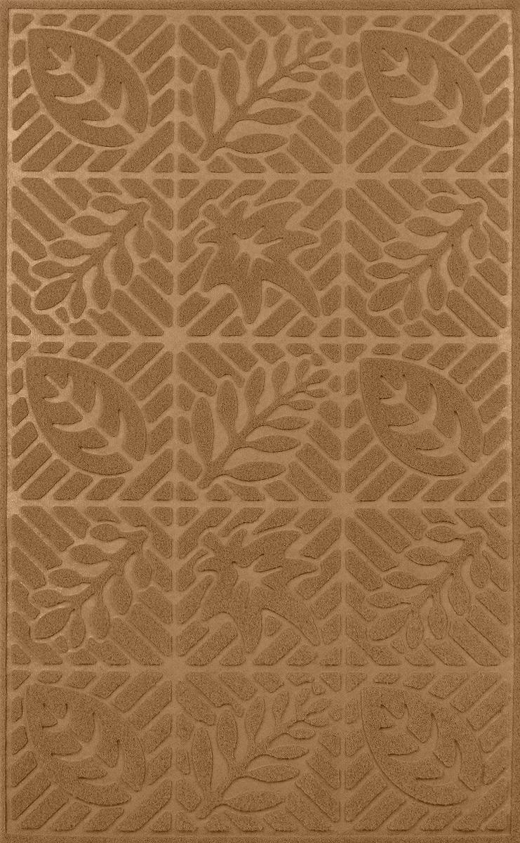 Коврик придверный SunStep Листья, фигурный, цвет: бежевый, 80 х 50 см коврик домашний sunstep цвет синий 80 х 150 х 4 см