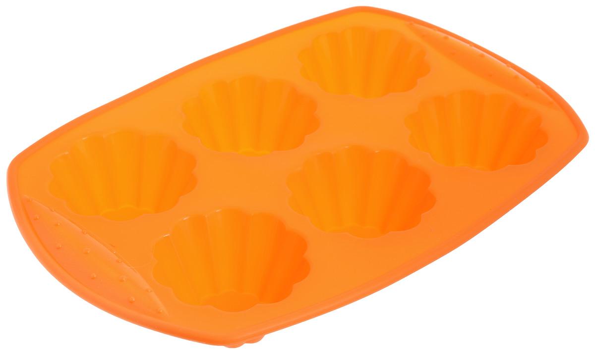 Форма для выпечки Calve, силиконовая, 6 ячеек. CL-4557CL-4557Форма для выпечки Calve изготовлена из высококачественного силикона. Стенки формы гнутся, что позволяет легко достать готовую выпечку и сохранить аккуратный внешний вид блюда. Форма имеет 6 ячеек.Изделия из силикона очень удобны в использовании: пища в них не пригорает и не прилипает к стенкам, форма легко моется. Приготовленное блюдо можно очень просто достать из формы, просто перевернув ее, при этом внешний вид блюда не нарушится. Изделие обладает эластичными свойствами: складывается без изломов, восстанавливает свою первоначальную форму. Порадуйте своих родных и близких любимой выпечкой в необычном исполнении. Подходит для приготовления в духовых шкафах и микроволновых печах без использования режима гриль при температуре до +230°C. Можно использовать в морозильных камерах при температуре до -40°. Можно мыть в посудомоечной машине.Средний размер ячейки: 7 х 7 х 4 см. Размер формы: 30 х 21 х 4 см.