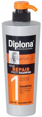 Шампунь Diplona Professional Your Repair Profi, для сухих и поврежденных волос, 600 мл95172Шампунь Diplona Professional Your Repair Profi - профессиональная помощьдля сухих и поврежденных волос. Основные компоненты:Протеины пшеницы - увлажняют кожу, способствуют восстановлению блеска и эластичности волос, обеспечивают защиту и питание сухих волос. Пантенол - помогает восстановить поврежденные волосяные луковицы и секущиеся концы волос. Витамин В3 - благодаря своему сосудорасширяющему действию позволяет облегчить проникновение активных веществ, что благоприятно влияет на рост волос. Экстракт черной смородины - богат витаминами А, В и С, которые питают и защищают волосы от самых корней. Характеристики: Объем: 600 мл. Производитель: Германия. Артикул: 95172.Diplona Professionalсуществует на немецком рынке более 40 лет, была разработана совместно с лучшим стилистом, неоднократным победителем конкурсов парикмахерского искусства Германии и основателем немецких салонов красоты с 60-летней историей Дитером Брюннетом.Товар сертифицирован.