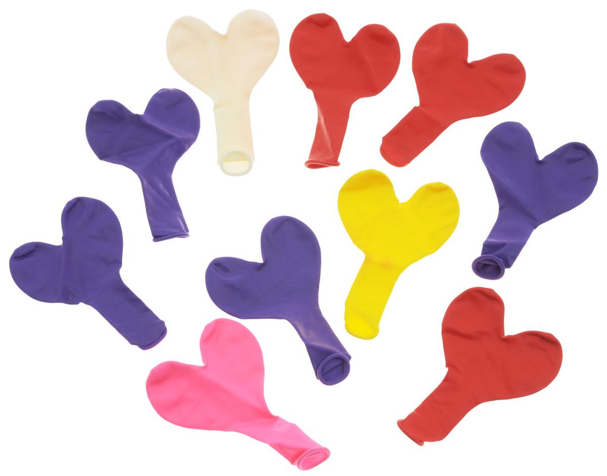 Action! Шары воздушные Сердечки цвет мультиколор 10 шт -  Воздушные шарики