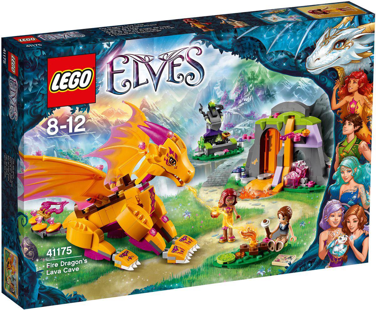 LEGO Elves Конструктор Лавовая пещера дракона огня 41175 конструктор lego elves встреча наиды с гоблином воришкой 41181