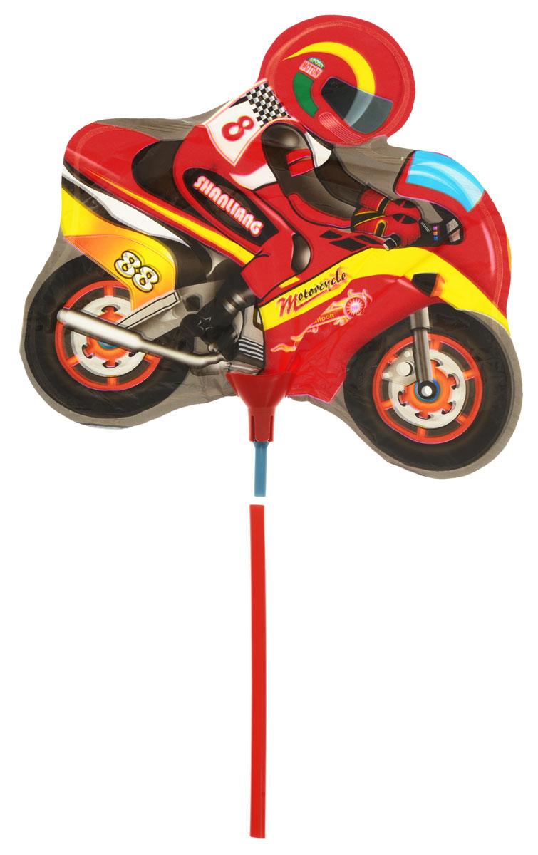 Action! Шар фольгированный на палочке Мотоцикл -  Воздушные шарики