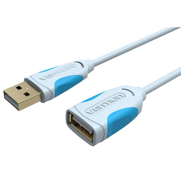 Vention USB 2.0, Grey кабель-удлинитель (2 м)VAS-A05-S200Внешний интерфейсный кабель Vention USB 2.0 предназначен для синхронизации и передачи данных периферийных устройств и их компонентов с разъемом USB, в основном используется, как удлинитель.Пропускная способность интерфейса: до 480 Мбит/секСовместимость: USB 1.1Тип оболочки: ПВХ - экранированный (фольга)