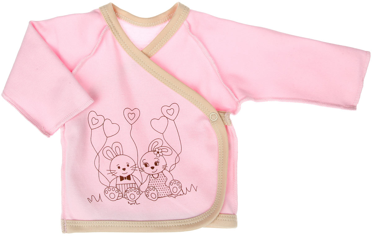 Распашонка-кимоно КотМарКот, цвет: розовый. 3489. Размер 62, 1-3 месяца3489Распашонка-кимоно КотМарКот послужит идеальным дополнением к гардеробу вашей крохи, обеспечивая ей наибольший комфорт. Распашонка, выполненная швами наружу, изготовлена из натурального хлопка - интерлока, благодаря чему она необычайно мягкая и легкая, не раздражает нежную кожу ребенка и хорошо вентилируется, а эластичные швы приятны телу младенца и не препятствуют его движениям. Распашонка-кимоно с длинными рукавами-реглан оформлена принтом с изображением очаровательных звйчиков. Благодаря системе застежек-кнопок по принципу кимоно модель можно полностью расстегнуть.Распашонка полностью соответствует особенностям жизни ребенка в ранний период, не стесняя и не ограничивая его в движениях. В ней ваш ребенок всегда будет в центре внимания.