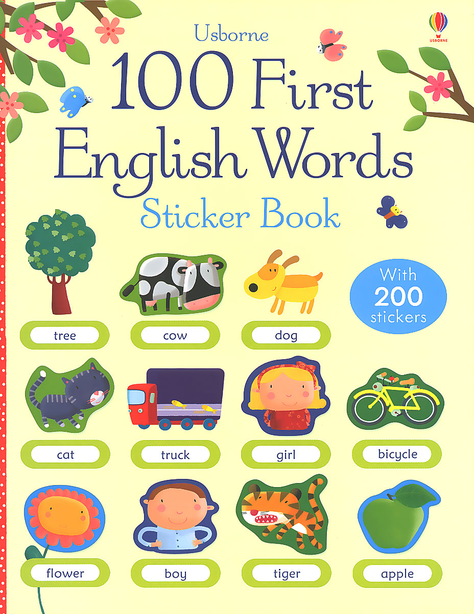 100 First English Words Sticker Book peppa pig 1000 first words sticker book
