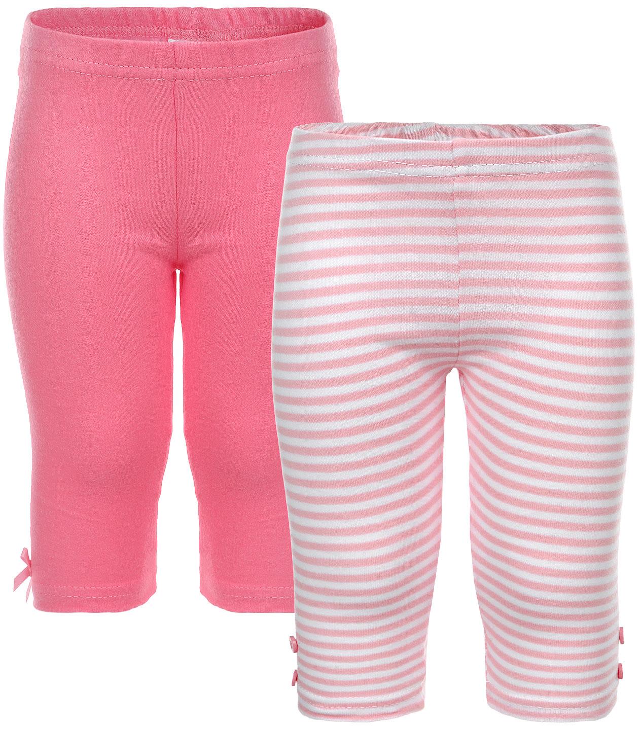 Леггинсы для девочки PlayToday Baby, цвет: розовый, белый, 2 шт. 168806. Размер 56 леггинсы viva baby леггинсы