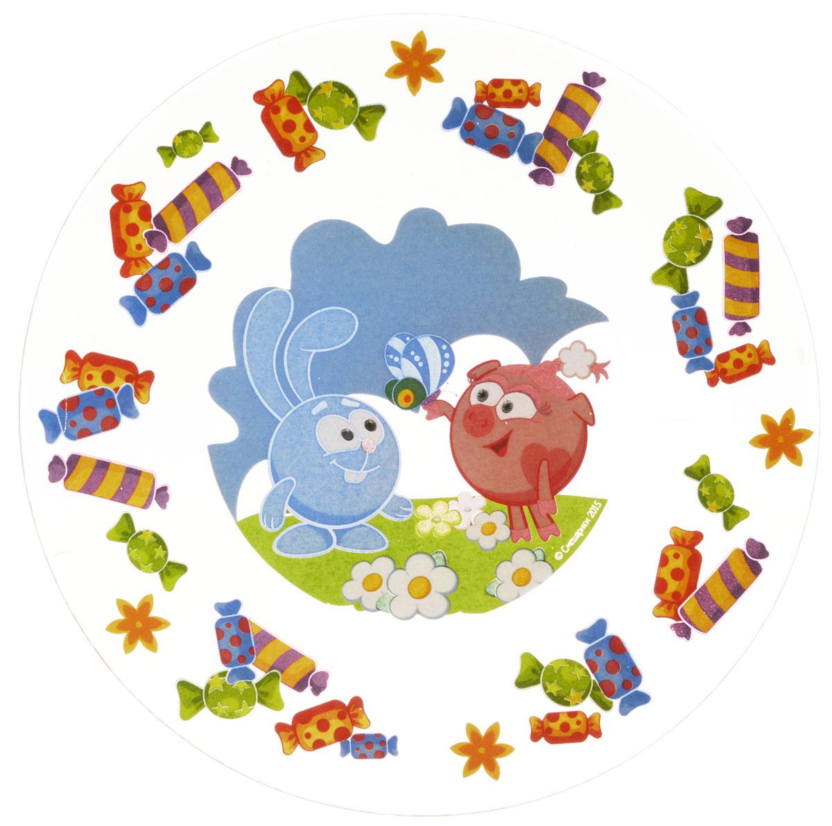 Смешарики Тарелка детская Конфеты диаметр 19,5 смСШТ195-1Яркая тарелка Смешарики Конфеты идеально подойдет для кормления малыша и самостоятельного приема им пищи. Тарелка выполнена из стекла и оформлена высококачественным изображением героев мультсериала Смешарики.Такой подарок станет не только приятным, но и практичным сувениром, добавит ярких эмоций вашему ребенку! Можно использовать в посудомоечной машине и использовать в СВЧ-печи.