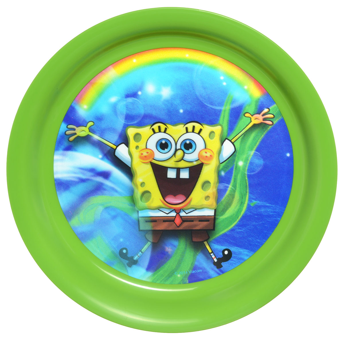 Губка Боб Тарелка детская 3D цвет зеленый диаметр 19 смP190-01GЯркая тарелка Губка Боб с 3D рисунком идеально подойдет для кормления малыша и самостоятельного приема им пищи. Тарелка выполнена из безопасного полипропилена зеленого цвета, дно оформлено объемным изображением улыбающегося Губки Боба из одноименного мультсериала.Такой подарок станет не только приятным, но и практичным сувениром, добавит ярких эмоций вашему ребенку!Не предназначено для использования в СВЧ-печи и посудомоечной машине.