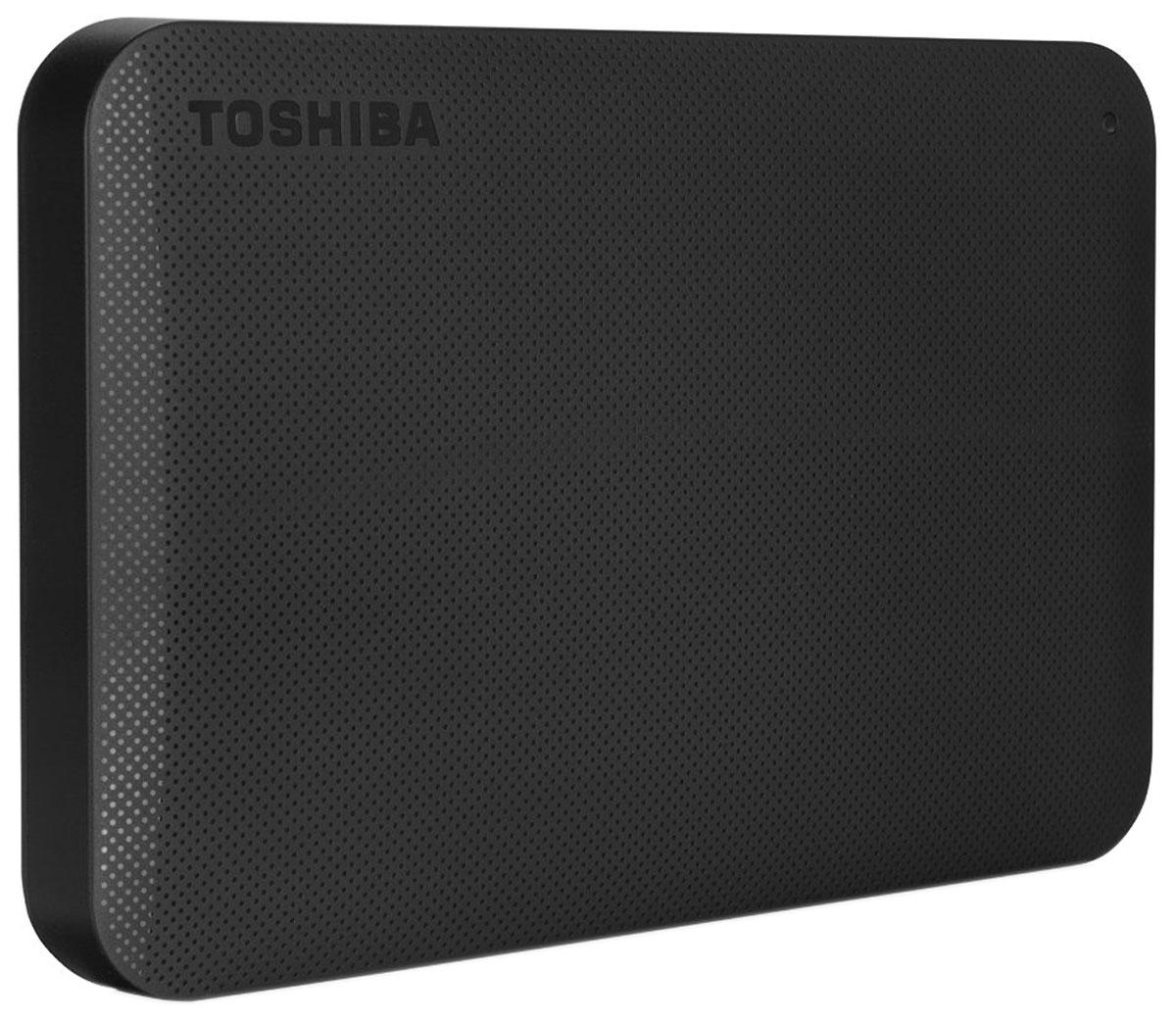 Toshiba Canvio Ready 1TB, Black внешний жесткий диск (HDTP210EK3AA)HDTP210EK3AAВнешний жесткий диск Toshiba Canvio Ready отличается высокими показателями по быстроте деятельности. Практически в течение считанных мгновений у вас появятся доступы к интересующим информационным данным. Такой результат достигается за счет эффективности действия интерфейса USB 3.0.Теперь вы сможете вести запись данных на скорости, равной 5 Гбит/с, что позволит копировать большие файлы в кратчайшие сроки. Обратная совместимость с интерфейсом USB 2.0 гарантирует стабильную работу с оборудованием предыдущего поколения: при помощи Canvio Ready удобно переносить информацию со старого компьютера на новый.Пропускная способность интерфейса: 5 Гбит/сек Поддержка ОС: Windows 10, Windows 8, Windows 7