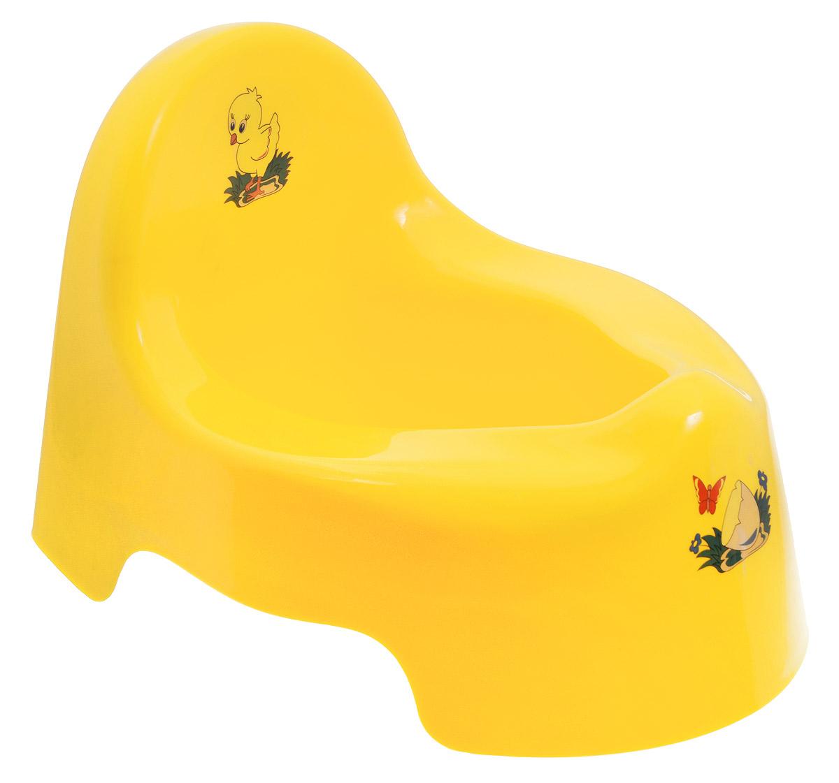 Idea Горшок детский цвет желтый