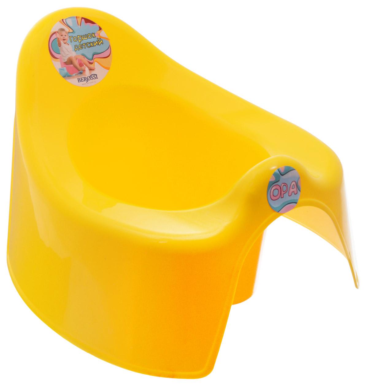 Berossi Горшок детский Opa цвет желтый -  Горшки и адаптеры для унитаза