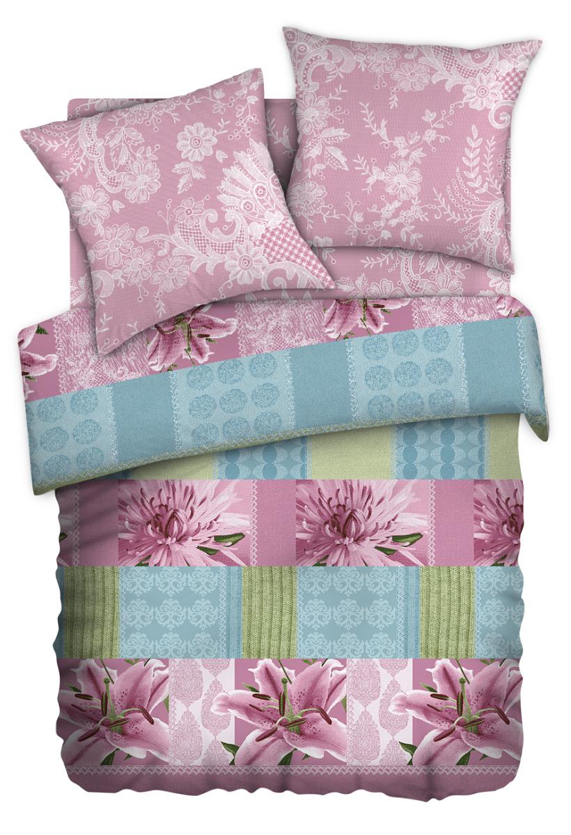 Комплект белья Любимый дом Веста, 2-спальный, наволочки 70х70, цвет: розовый327649Комплект постельного белья коллекции Любимый дом выполнен из высококачественной ткани - из 100% хлопка. Такое белье абсолютно натуральное, гипоаллергенное, соответствует строжайшим экологическим нормам безопасности, комфортное, дышащее, не нарушает естественные процессы терморегуляции, прочное, не линяет, не деформируется и не теряет своих красок даже после многочисленных стирок, а также отличается хорошей износостойкостью.