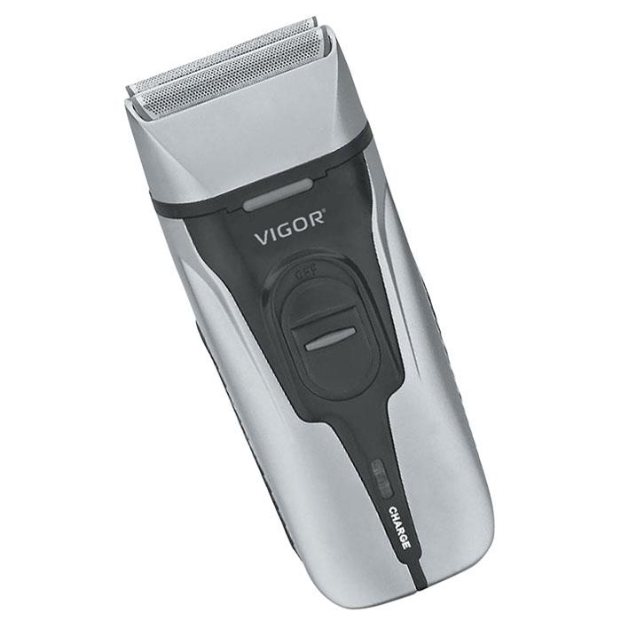 Vigor HX-6440 бритва аккумуляторнаяHX-6440Электробритва Vigor HX-6440 с эргономичным дизайном быстро и качественно избавит вас от ненужной растительности на лице. Данная модель оснащена емкостным аккумулятором и плавающей головкой. Встроенный триммер позволит вам создать свой неповторимый стиль. Удобная бреющая головка делает бритье эффективным и плавно повторяет контуры вашего лица, обеспечивая отличный результат даже в труднодоступных местах.