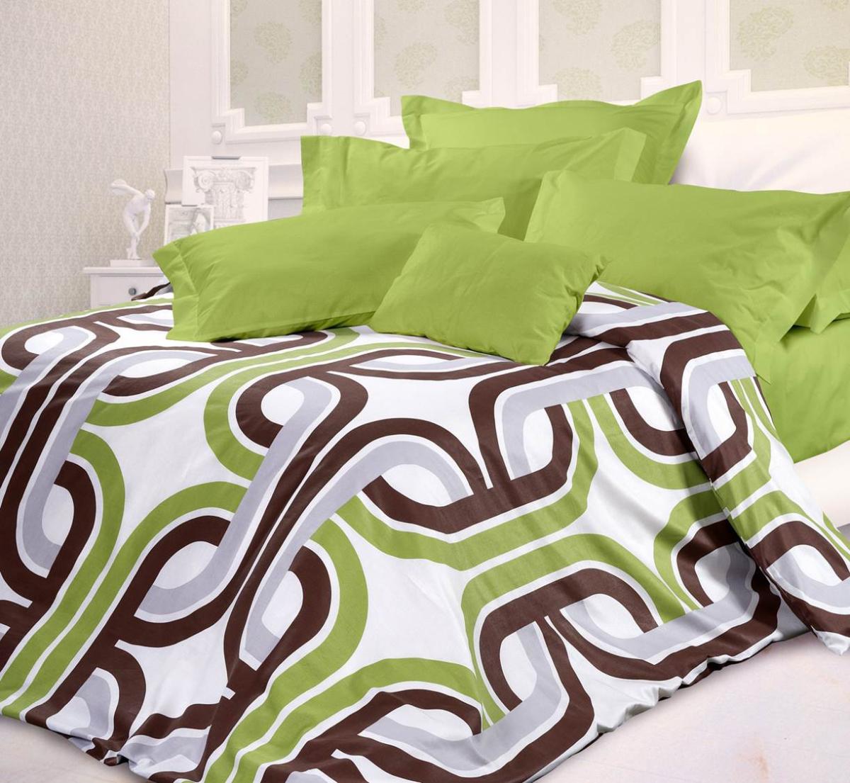 Комплект белья Унисон Антуан, евро, наволочки 70 х 70, цвет: зеленый. 332482332482Роскошная коллекция постельного белья из 100% хлопкавысшего качества. Мягкий, износостойкий, нежный сатин сблагородным шелковистым блеском производится изкрученой хлопковой нити поспециальной технологии двойного плетения.