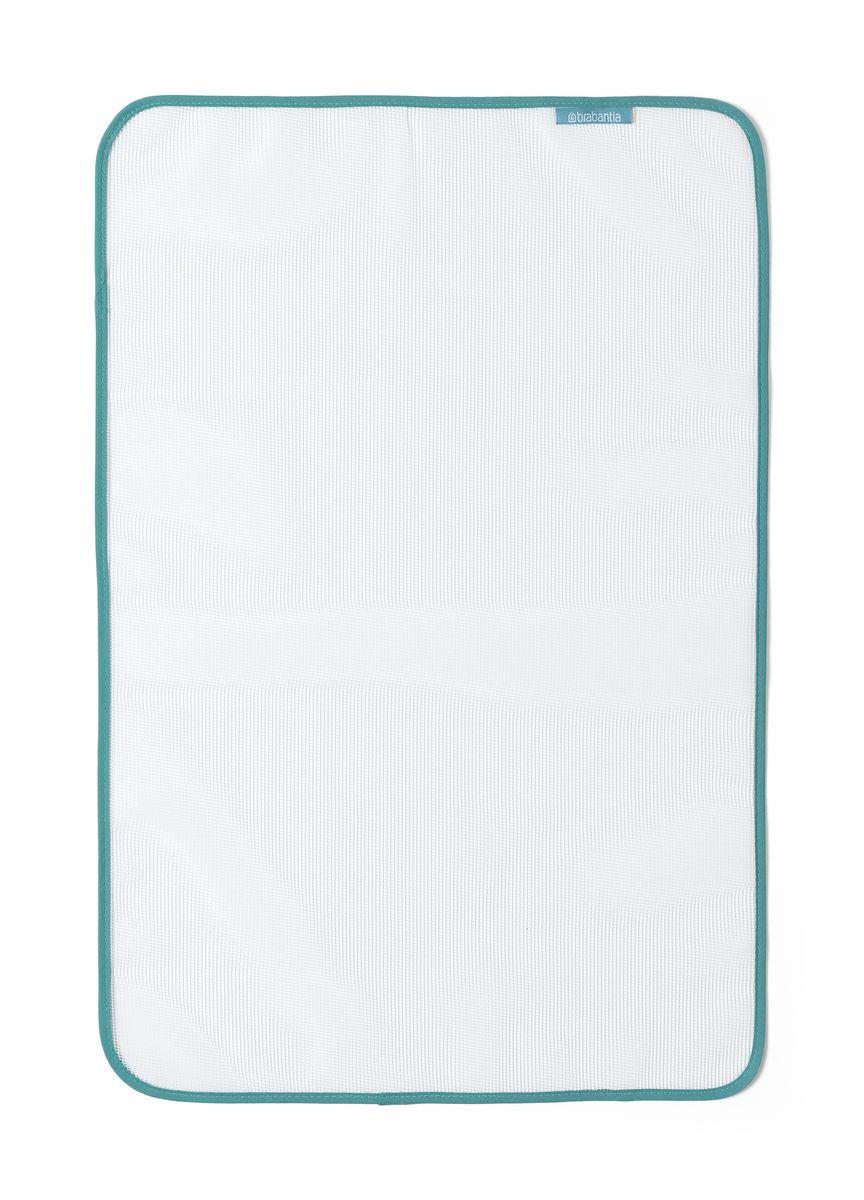 Ткань для глажения Brabantia, цвет: белый. 105487105487Идеальное решение для глажения изделий из деликатных тканей. Препятствует образованию лоснящихся пятен и защищает от подпалин. Хорошо видно утюжимый участок благодаря сетчатому материалу. Не подходит для глажения при температуре выше 200°C.