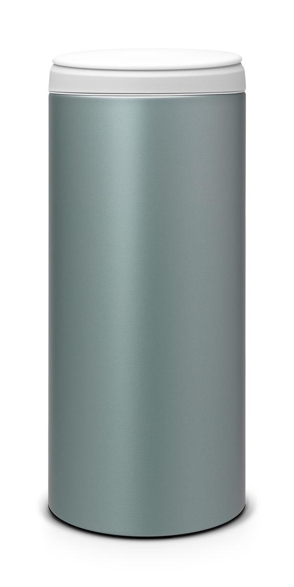 Бак мусорный Brabantia FlipBin, цвет: мятный металлик, 30 л. 106880106880Прост в обращении – открывается одним кончиком пальца. При открывании крышка не задевает стену. Удобная очистка – съемное пластиковое ведро с ручками. Всегда опрятный вид – идеально подходящие по размеру мешки PerfectFit (размер G). Предохранение пола от повреждений – пластиковый защитный обод.