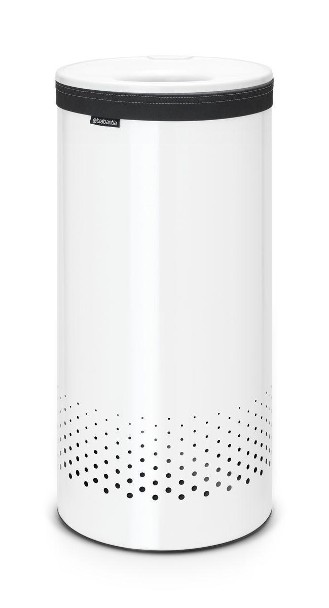 Бак для белья Brabantia, цвет: белый, 35 л. 102462102462Стильный дизайн и аккуратное хранение – через крышку не видно содержимое. Удобно закладывать и доставать белье – крышка крепится на верхний обод бака.Небольшие вещи можно закладывать, не открывая крышку – загрузочное отверстие Quick-Drop.Удобная переноска белья – съемный легко стираемый хлопковый мешок для белья. Мешок для белья удобно крепится на липучке, вкладывается и достается из бака.Вентиляционные отверстия позволяют белью «дышать».Нижний пластиковый защитный обод предохраняет пол от повреждений. Бак изготовлен из коррозионностойких материалов и идеально подходит для использования в ванной комнате.