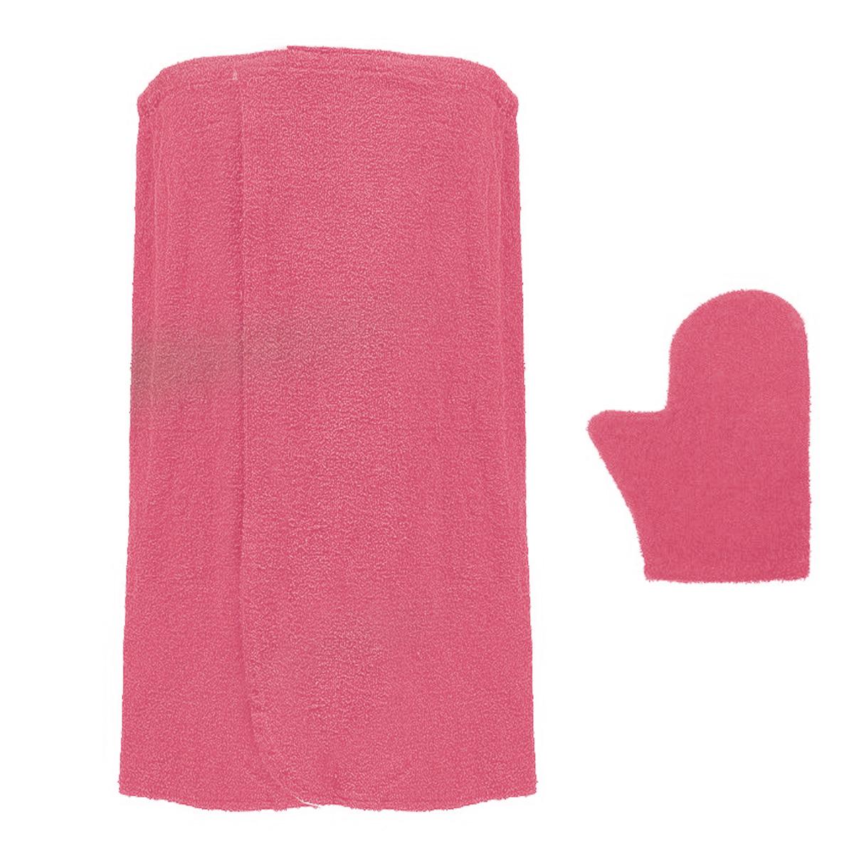 Комплект для бани и сауны  Банные штучки , женский, цвет: коралловый, 2 предмета. 32250 - Баня, сауна