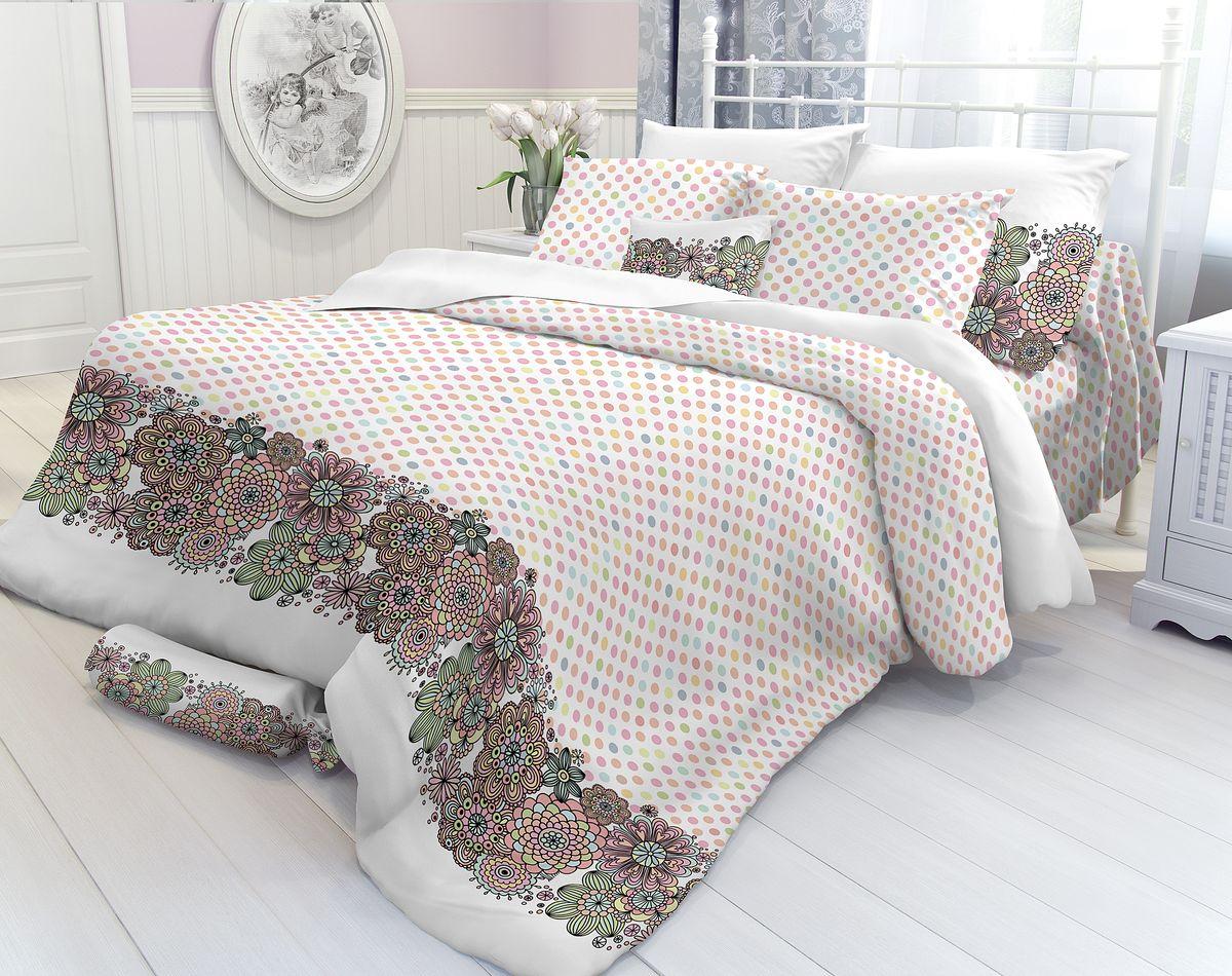 Комплект белья Verossa, 1,5-спальный, наволочки 70х70. 177933177933Комплект постельного белья включает в себя четыре предмета: простыню, пододеяльник и две наволочки, выполненные из перкаля.Перкаль - это тонкая, повышенной плотности в основном белая хлопчатобумажная ткань полотняного переплетения Размер пододеяльника: 148 x 215 см.Размер простыни: 180 x 215 см.Размер наволочек: 70 x 70 см.