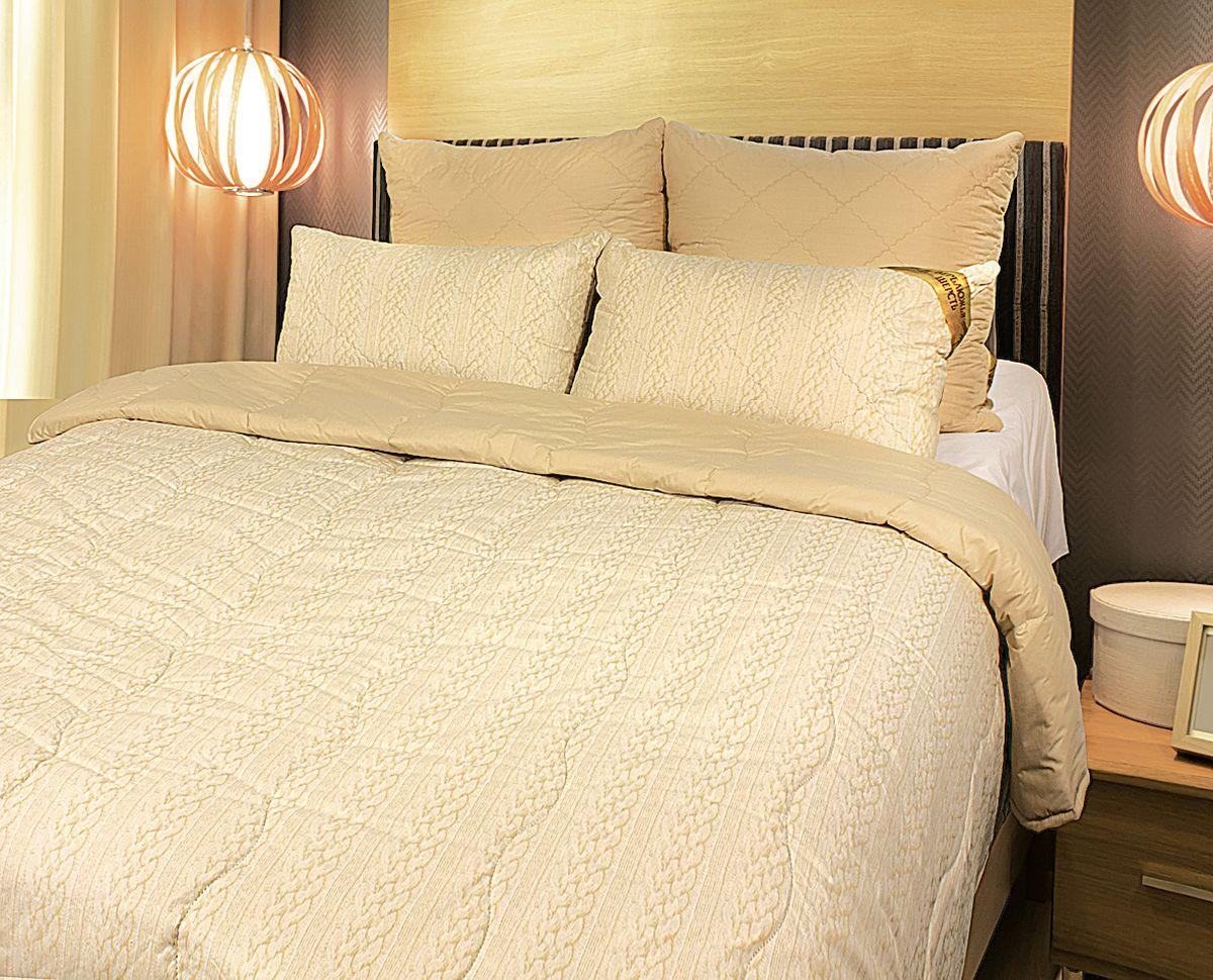 Одеяло Fashion Fantasy, наполнитель: верблюжья шерсть, цвет: бежевый, 200 х 220 см одеяло spatex с запахом шоколада наполнитель полиэстер 200 х 220 см