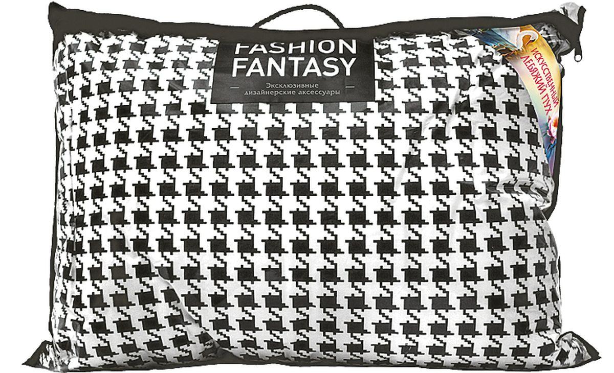Подушка Fashion Fantasy, цвет: черный, белый, 70 х 70 см183384