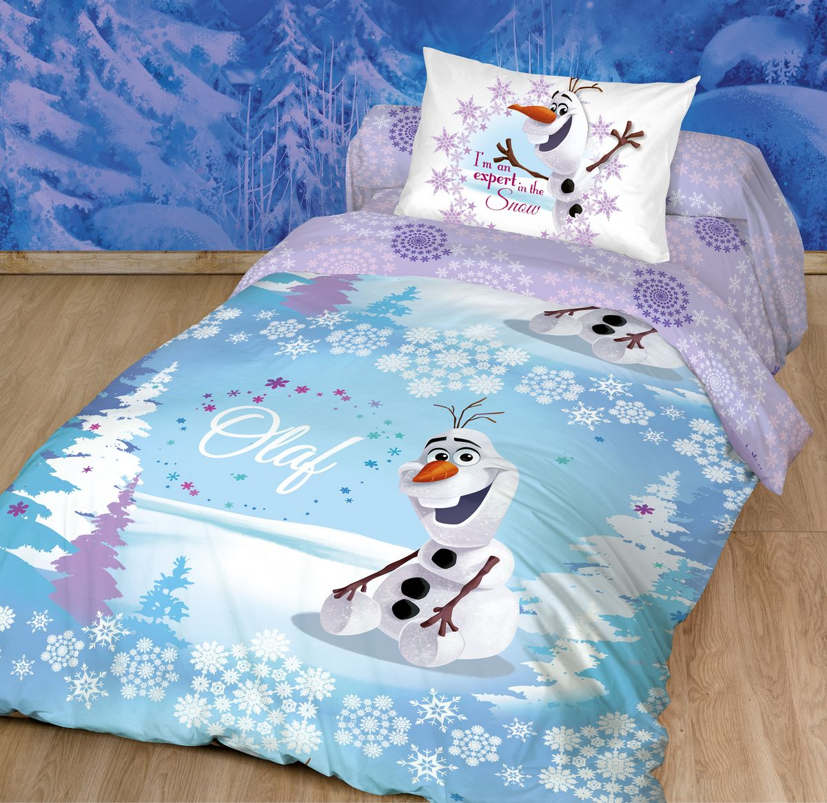 Комплект белья Disney, 1,5-спальный, наволочки 70х70. 186496186496Комплект белья Disney - это лицензионное постельное белье, выполненное из натуральных природных материалов.Комплект состоит из пододеяльника, простыни и наволочки.Уникальная структура ткани с высокими потребительскими свойствами. Ранфорс - это 100% хлопковая ткань. Привлекательная упаковка, позволяющая быть великолепным подарочным вариантом. Высокое качество пошива. Ручной подбор раппорта для сохранения целостности героя. Такой комплект привнесет в спальню ребенка массу новых красок и незабываемых впечатлений.