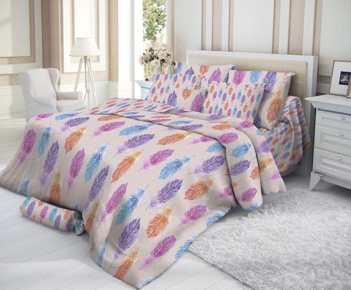 """Комплект белья """"Verossa"""", 2-спальный, наволочки 50х70, цвет: серый, мультиколор"""